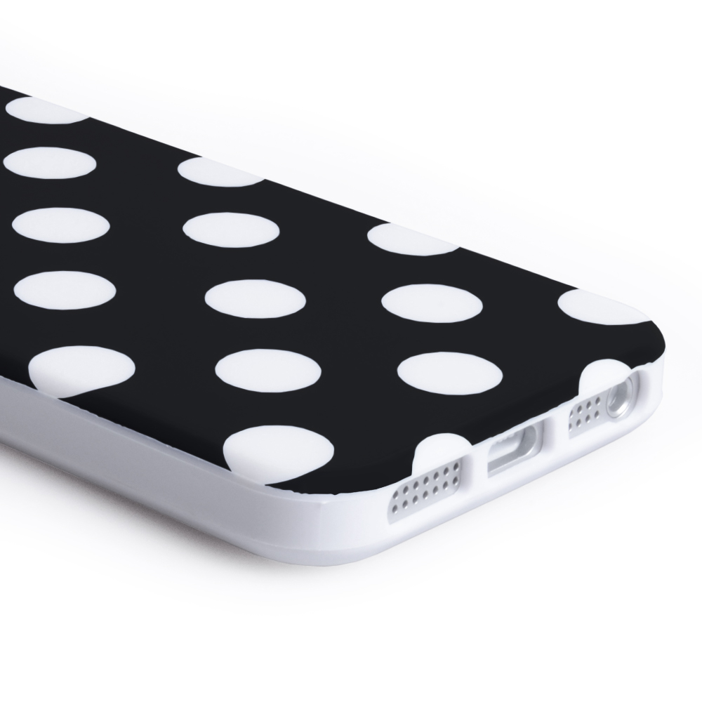 YouSave Accessories iPhone 5 / 5S Polka Dot Case - Black