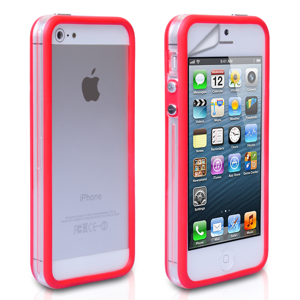 cases for iphone 5s yousave iphone 5 5s bumper clear mobile 13756