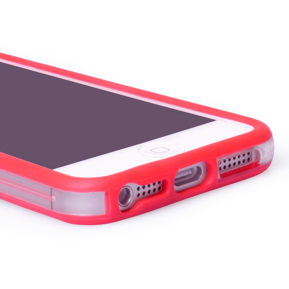 YouSave Accessories iPhone 5 / 5S Bumper Case - Red-Clear