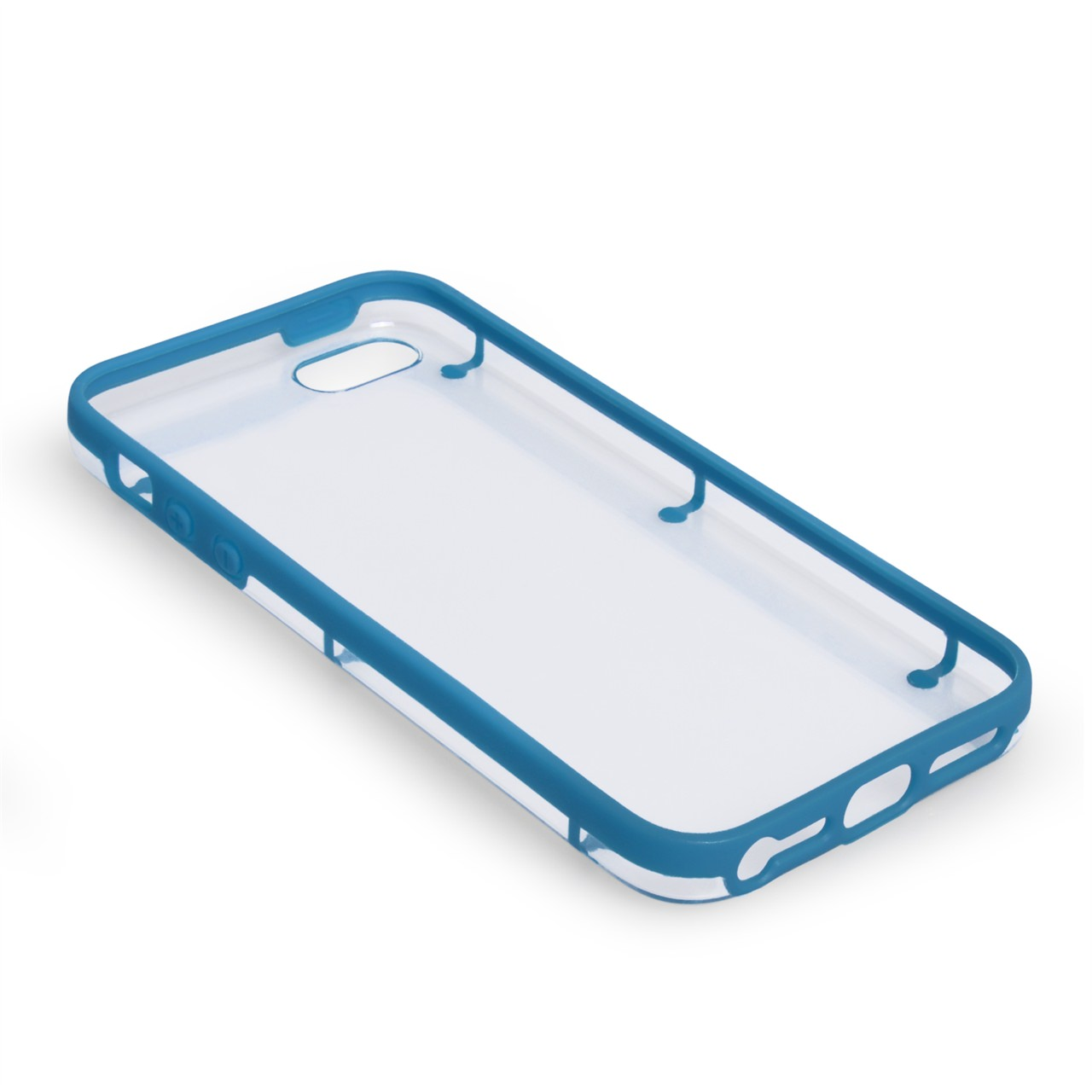 YouSave iPhone 5 Light Blue Gel And Hard Hybrid Case 6 Dot Design