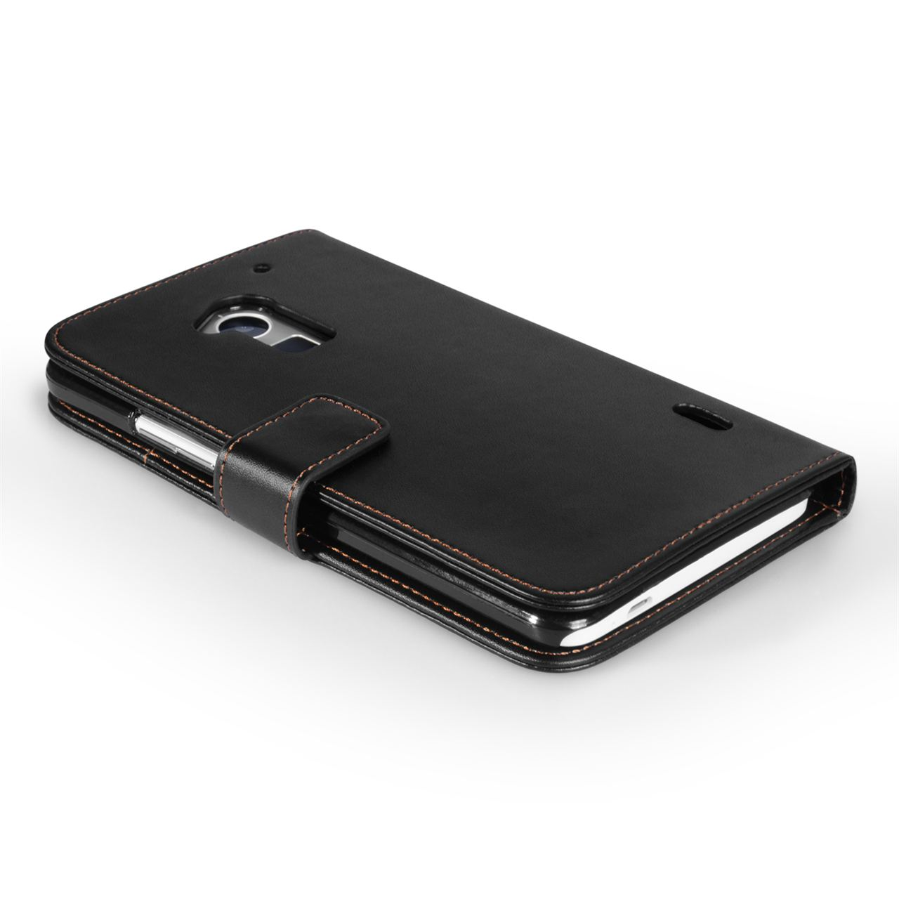 YouSave Accessories HTC One Max Leather Effect Wallet Case - Black
