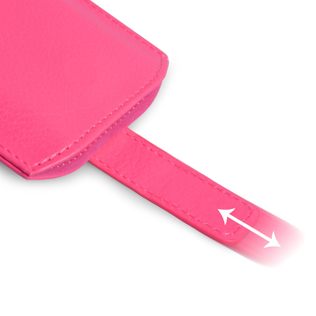 Caseflex Small Textured Faux Leather Return Phone Pouch - Pink