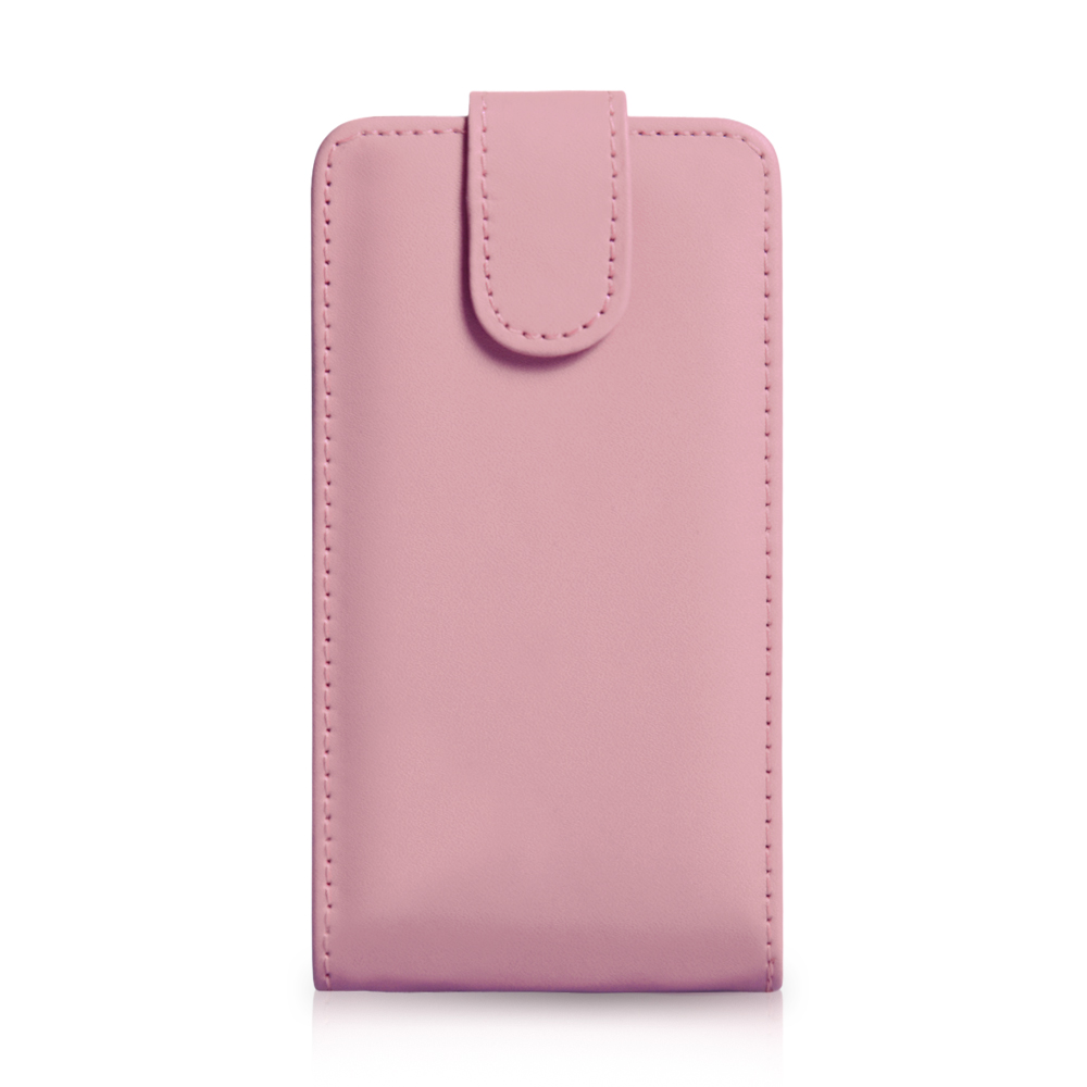 YouSave Samsung Galaxy S4 Leather Effect Flip Case - Baby Pink