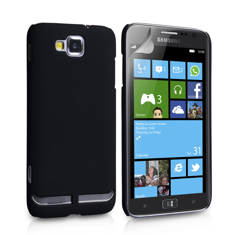 YouSave Accessories Samsung Ativ S Black Hard Hybrid Case