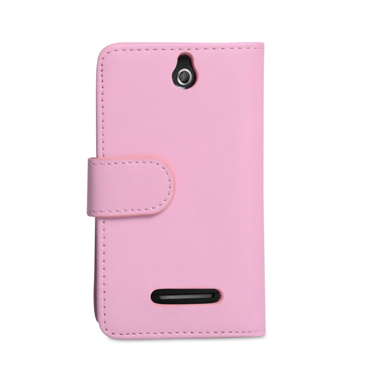 YouSave Accessories Sony Xperia E Leather Wallet Case - Baby Pink