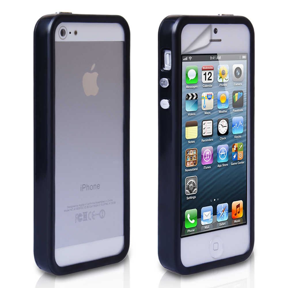 YouSave Accessories iPhone 5 / 5S Bumper Case Black