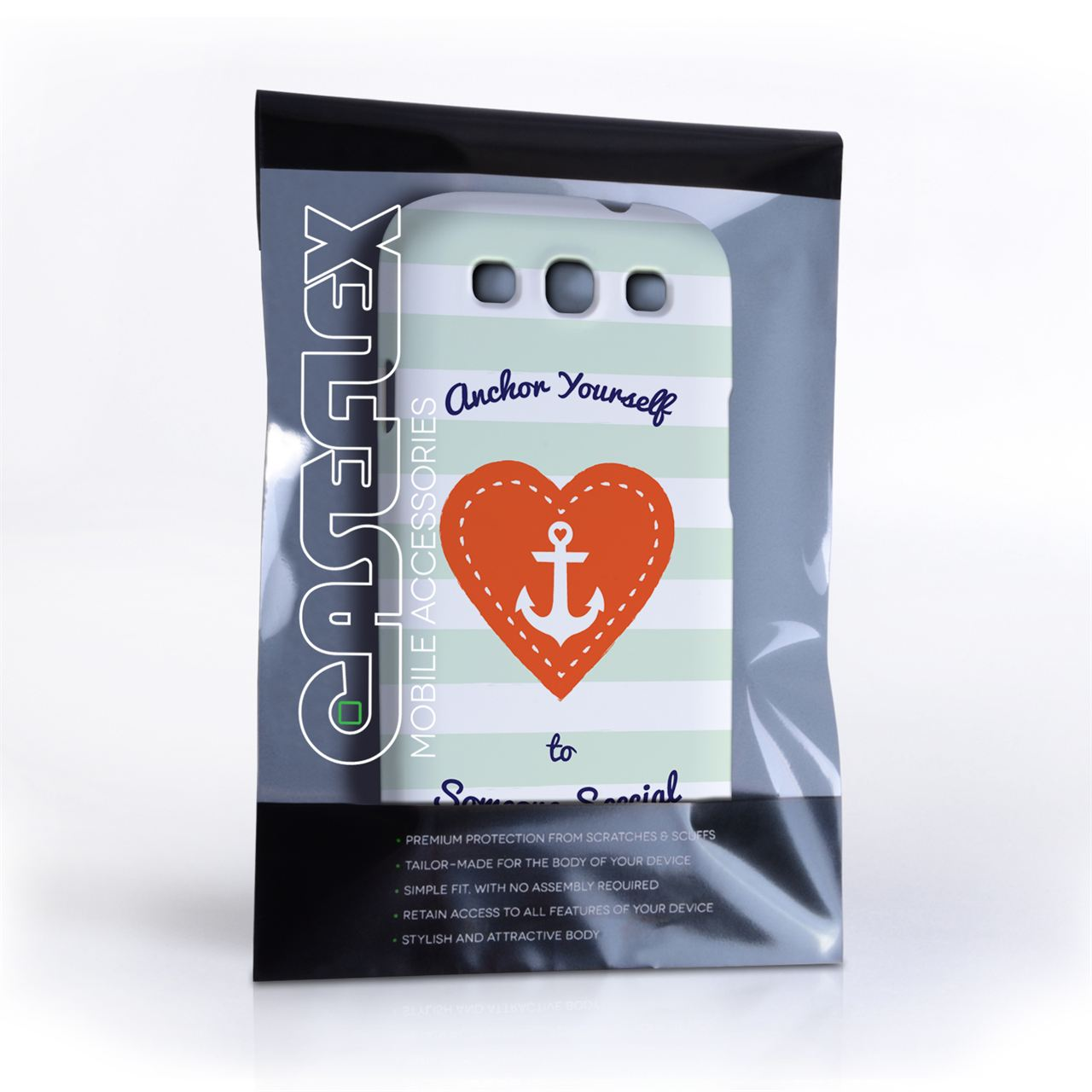 Caseflex Samsung Galaxy S3 Anchor Love Heart Case
