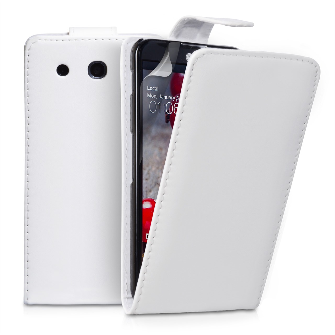 YouSave Accessories LG G Pro Leather Effect Flip Case - White