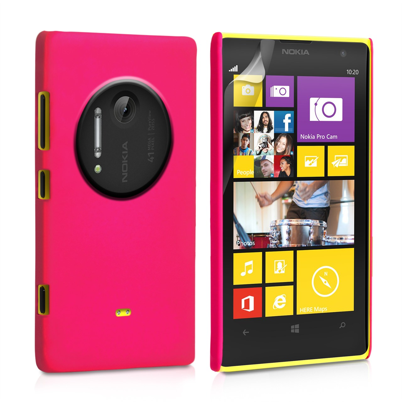 YouSave Accessories Nokia Lumia 1020 Hard Hybrid Case - Hot Pink