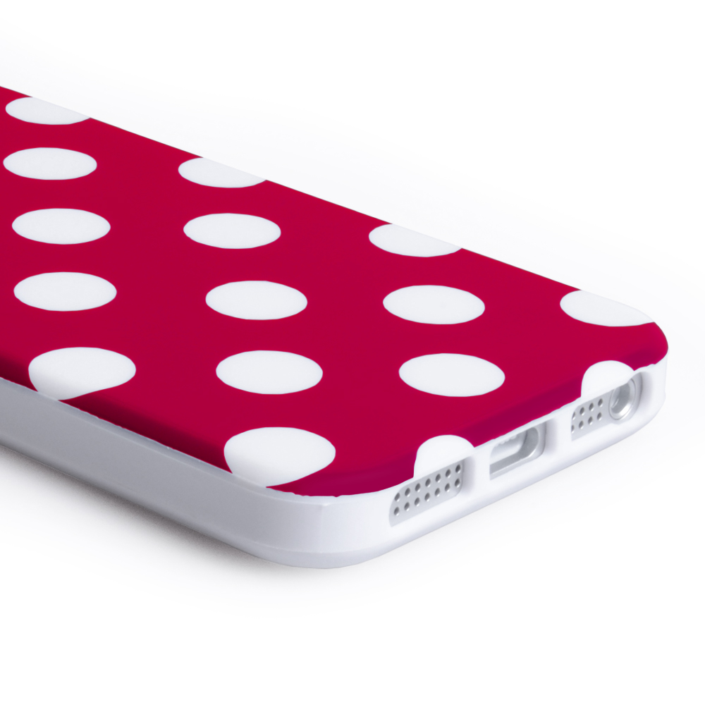 YouSave Accessories iPhone 5 / 5S Polka Dot Case - Red