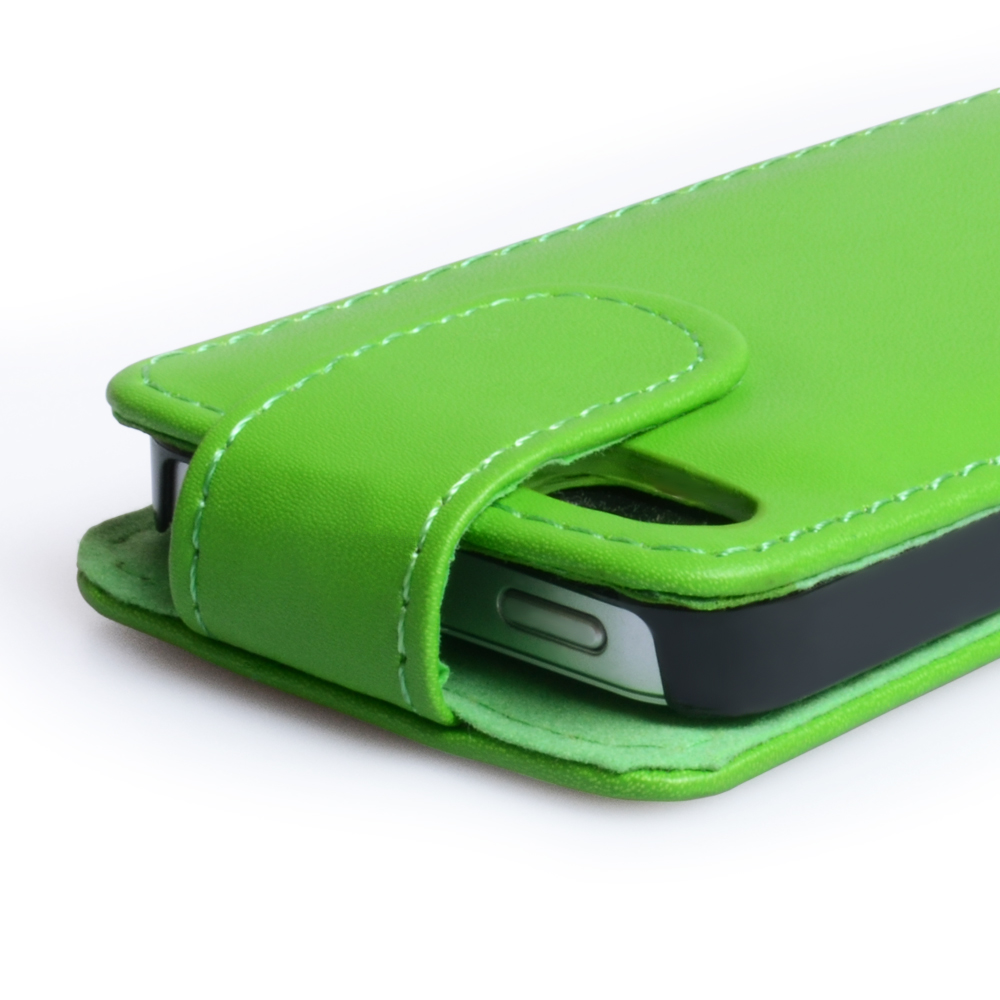 YouSave Accessories iPhone 5 / 5S Green Leather Effect Flip Case