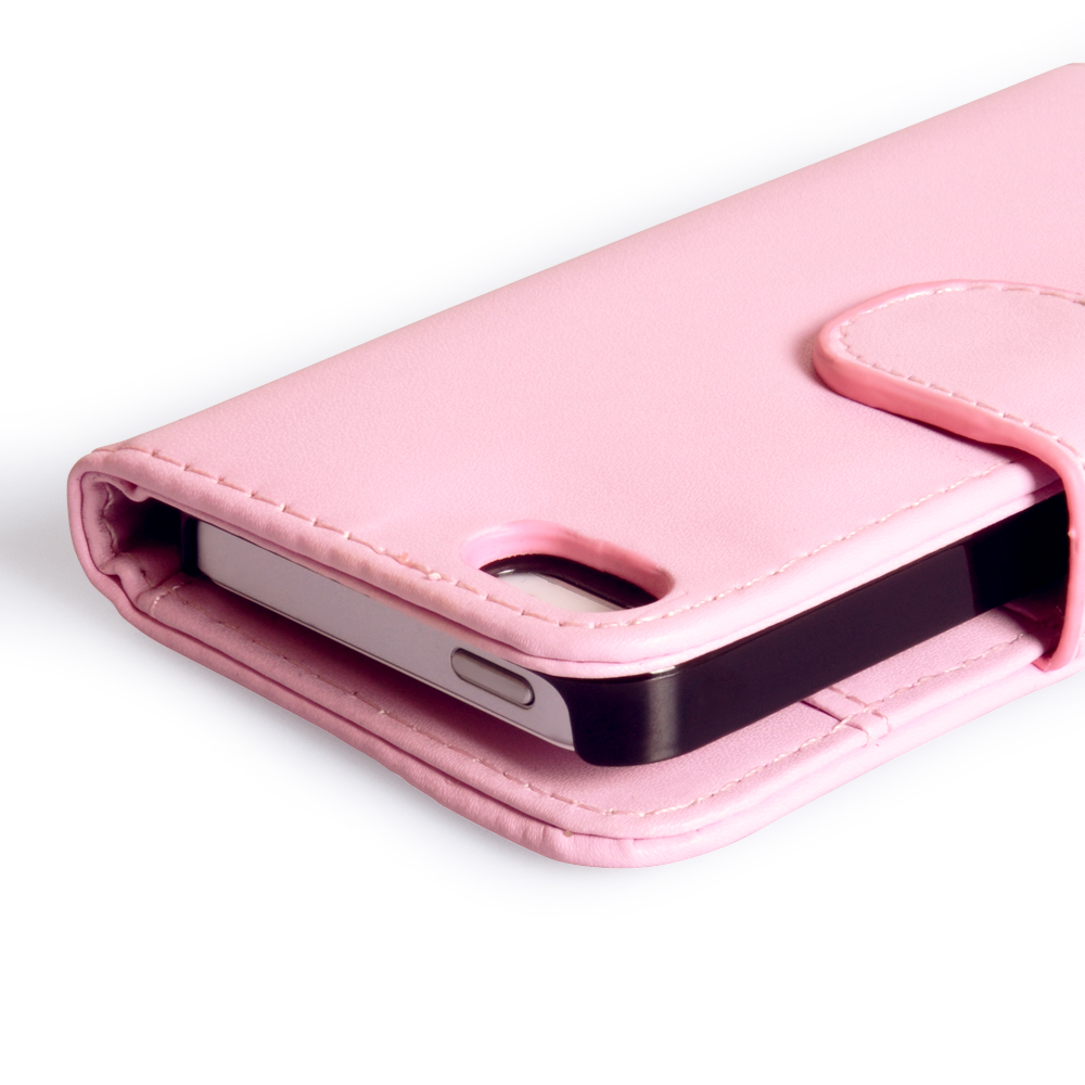YouSave iPhone 5 / 5S Leather Effect Wallet Case -  Baby Pink