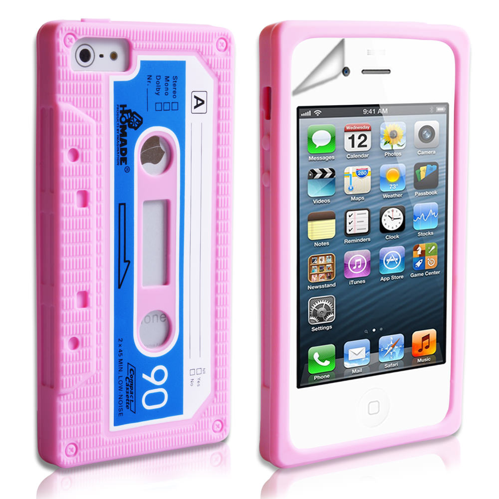 YouSave Accessories iPhone 5 / 5S Retro Cassette Case - Baby Pink