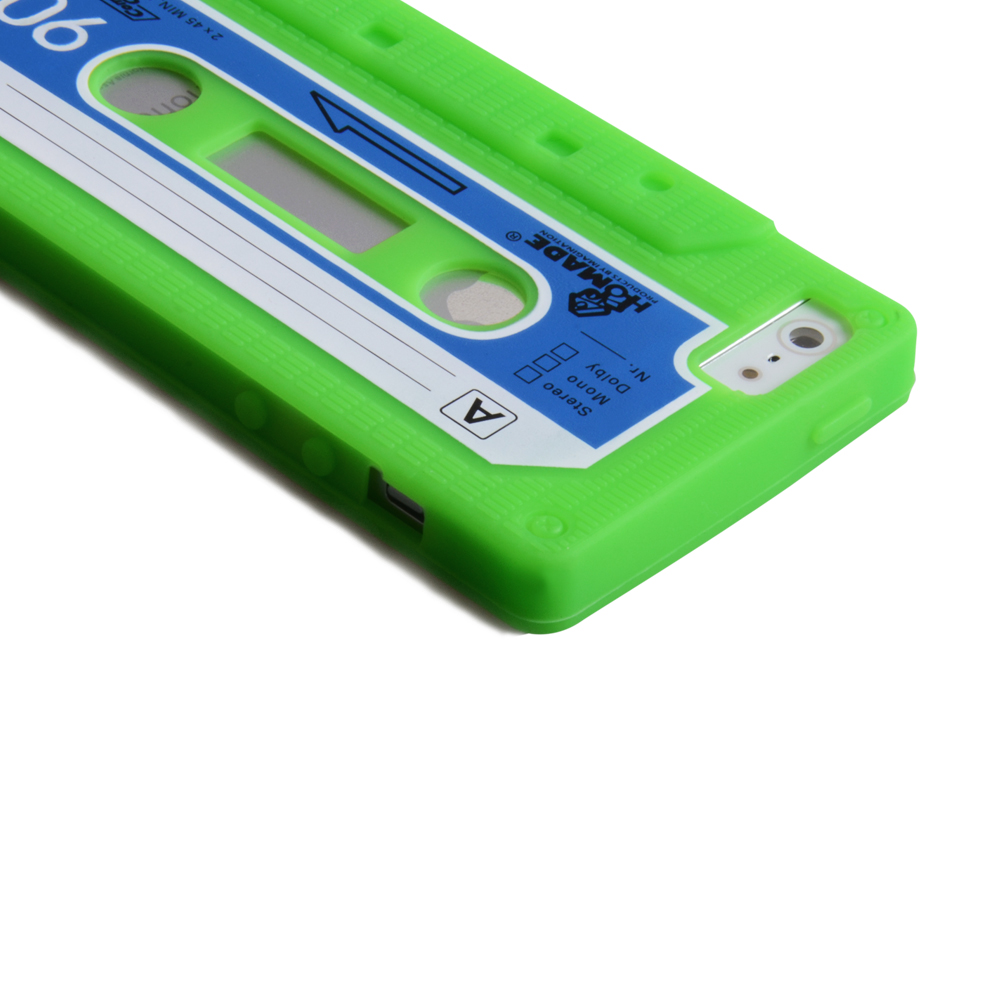 YouSave Accessories iPhone 5 / 5S Retro Cassette Case - Green