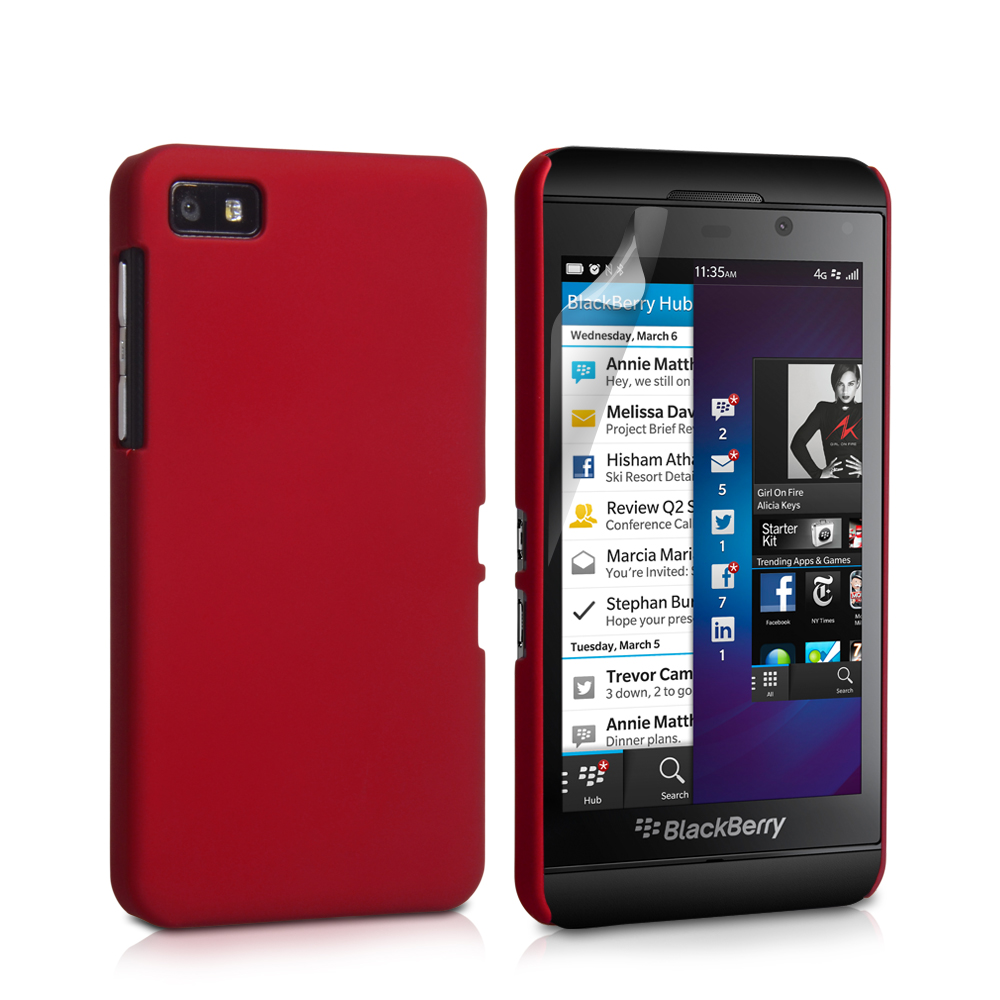 YouSave Accessories Blackberry Z10 Red Hard Hybrid Case