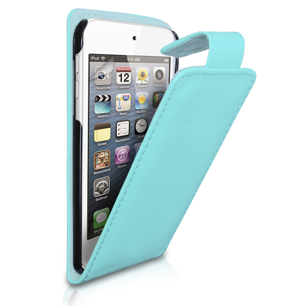 YouSave Accessories iPod Touch 5G Light Blue Leather Effect Flip Case