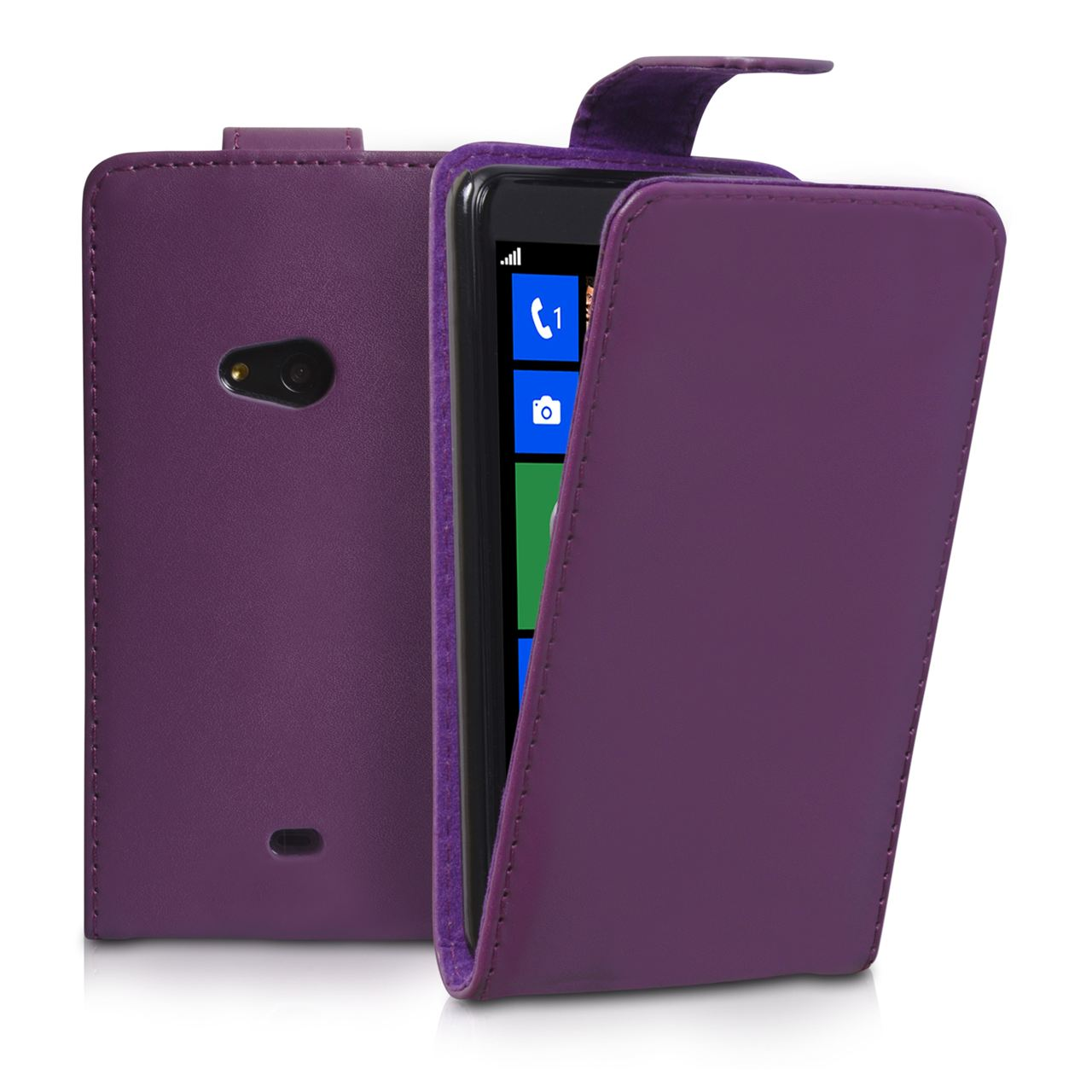 YouSave Accessories Nokia Lumia 625 Leather Effect Flip Case - Purple