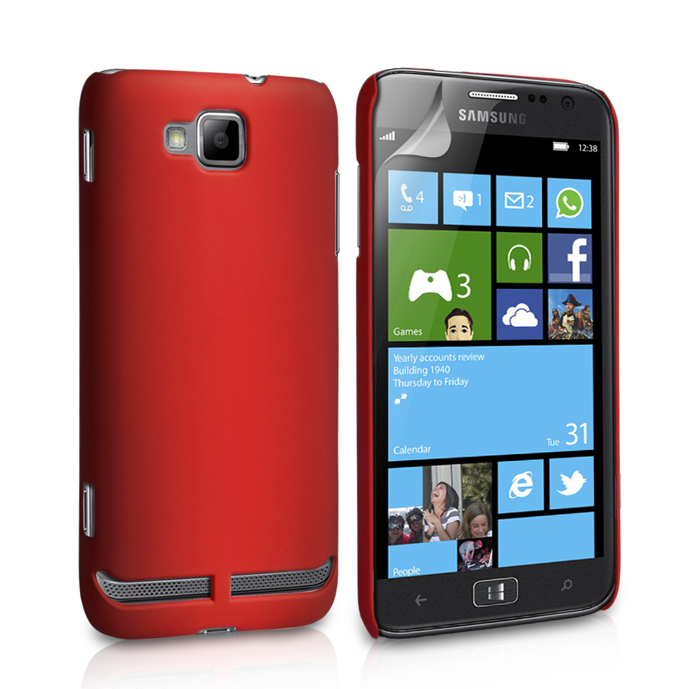 YouSave Accessories Samsung Ativ S Red Hard Hybrid Case