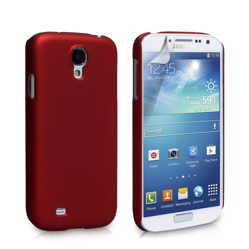 YouSave Accessories Samsung Galaxy S4 Hard Hybrid Case - Red