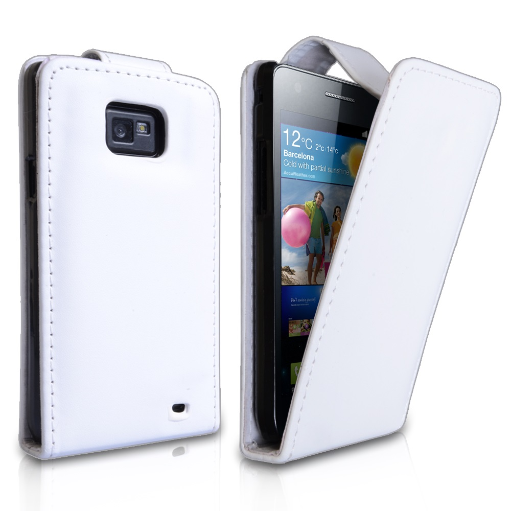 YouSave Accessories Samsung Galaxy S2 White Leather Effect Flip Case