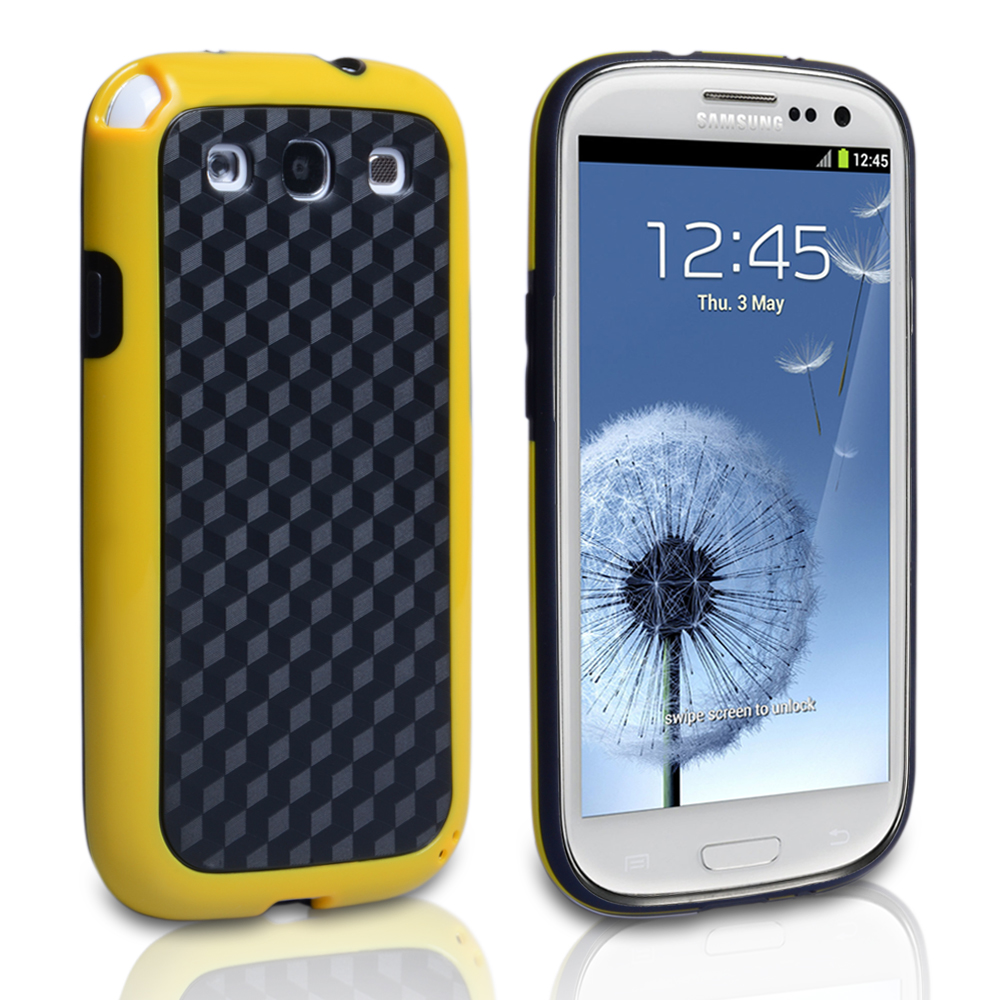 YouSave Samsung Galaxy S3 Combo Carbon Hybrid IMD Case Yellow