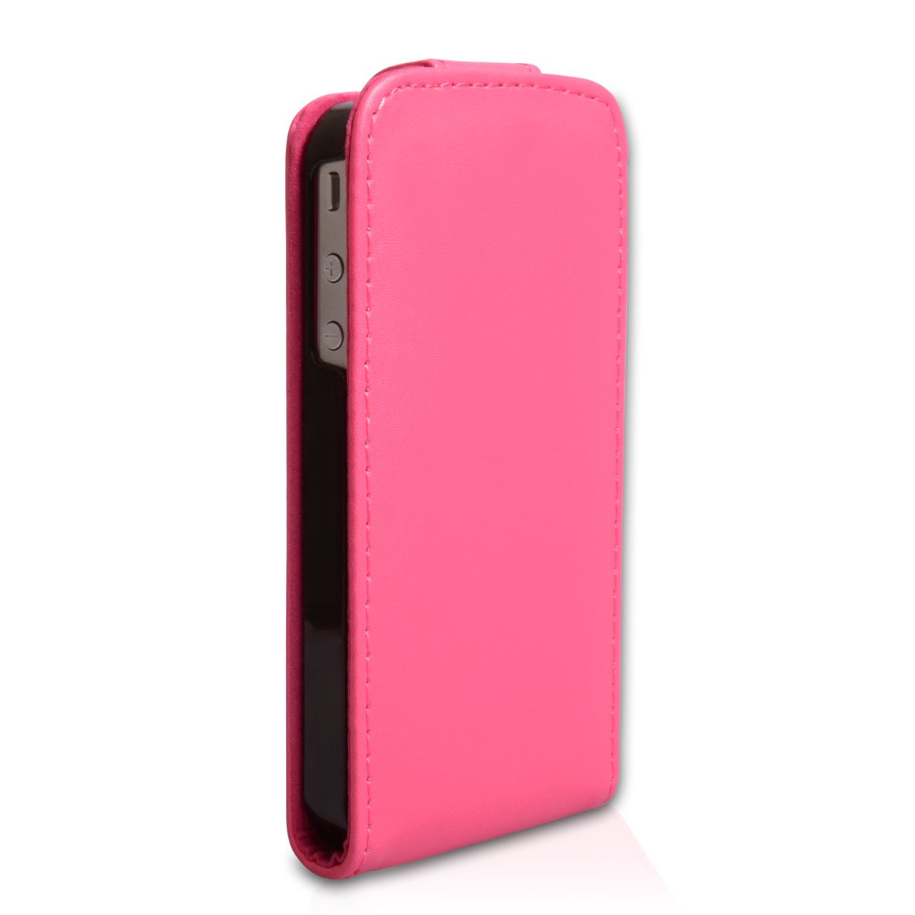 YouSave Accessories iPhone 4 / 4S Leather Effect Flip Case - Hot Pink