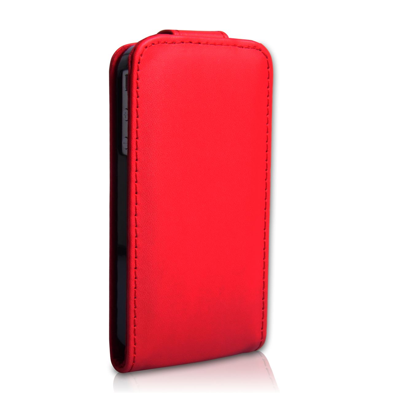 YouSave Accessories iPhone 4 / 4S Leather Effect Flip Case - Red