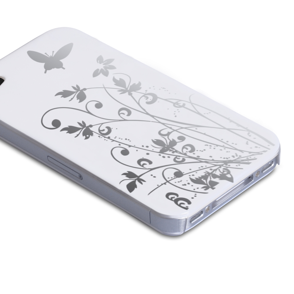 YouSave Accessories iPhone 5 / 5S White Butterfly IMD Hard Case