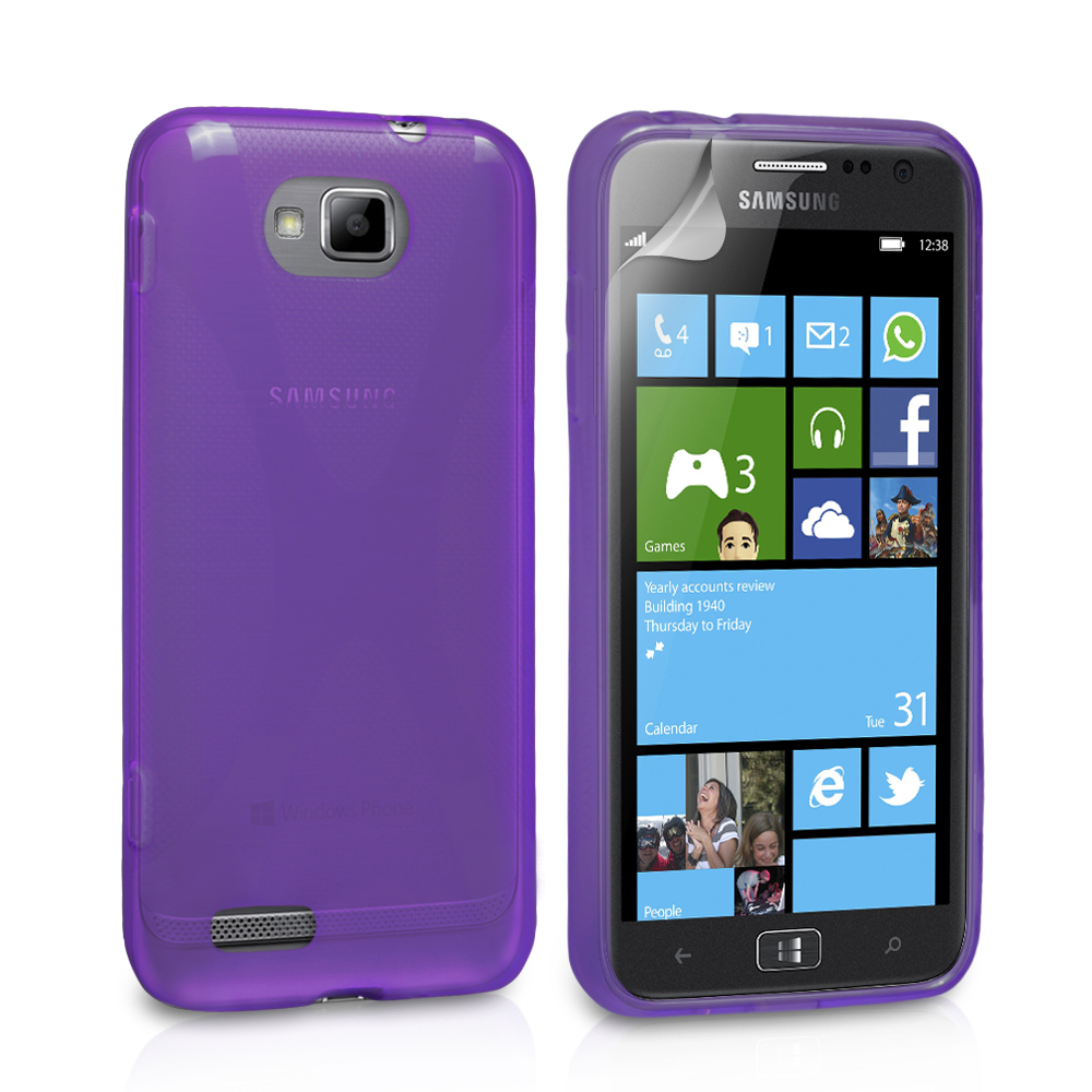 YouSave Accessories Samsung Ativ S Purple X-Line Case