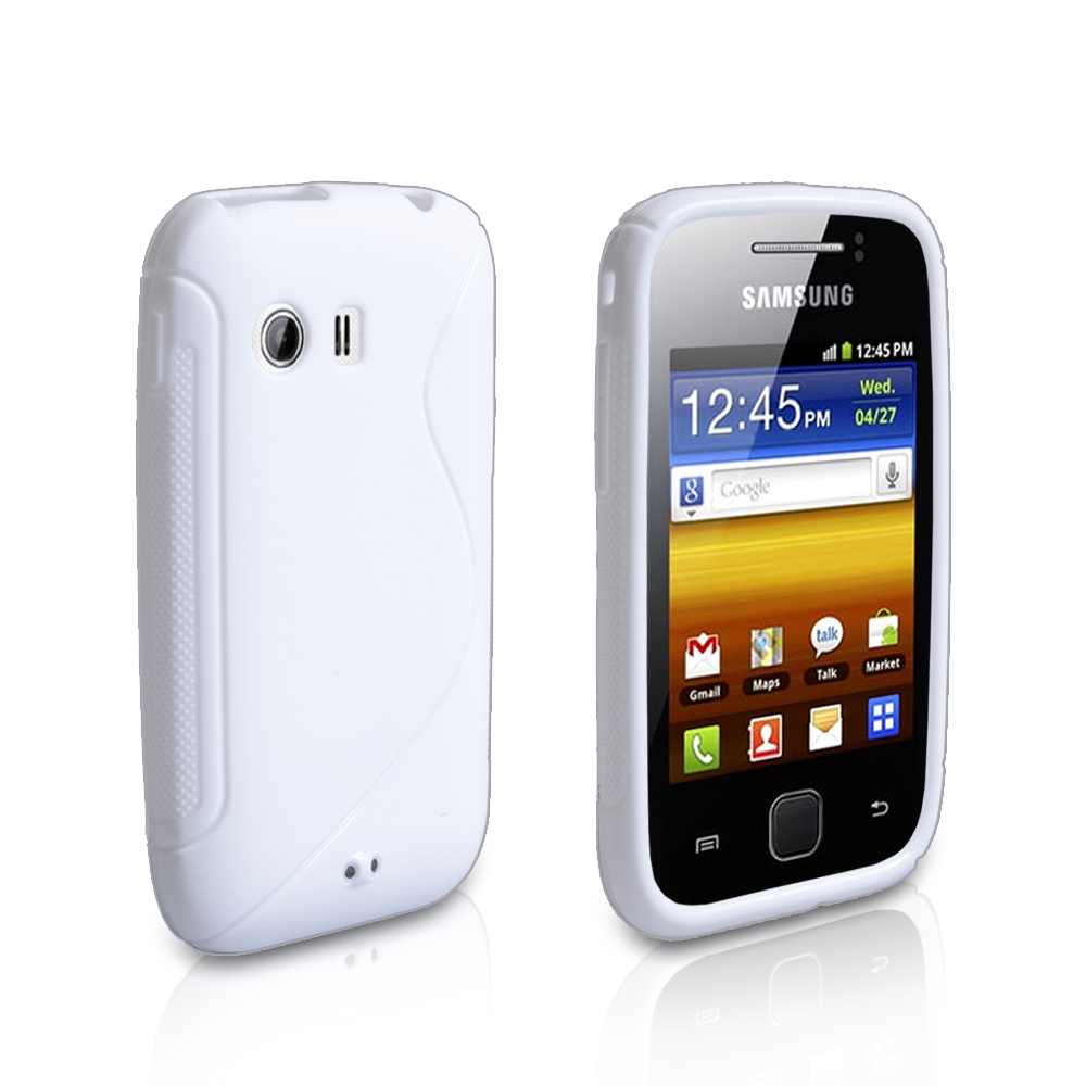 YouSave Accessories Samsung Galaxy Y White S-Line Silicone Gel Case
