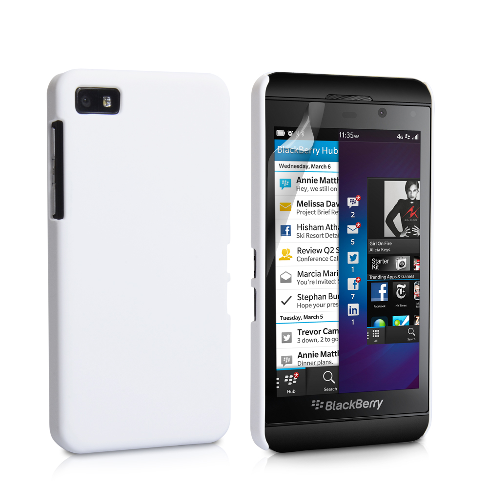 YouSave Accessories Blackberry Z10 Hard Hybrid Case - White