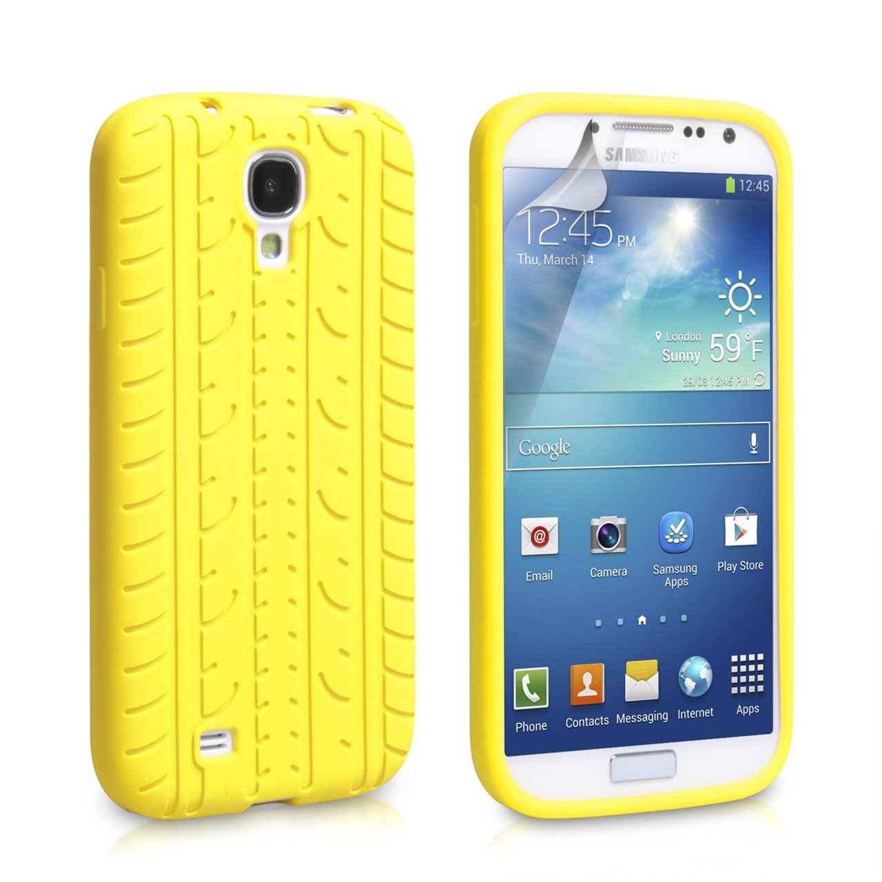 YouSave Accessories Samsung Galaxy S4 White Tyre Gel Case