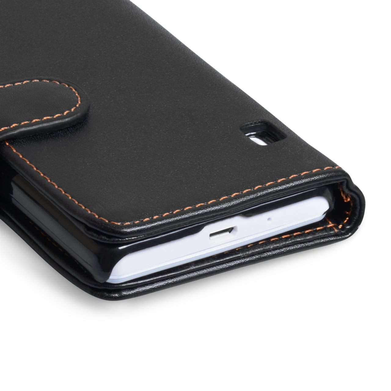 YouSave Nokia Lumia 1020 Textured Faux Leather Wallet Case - Black