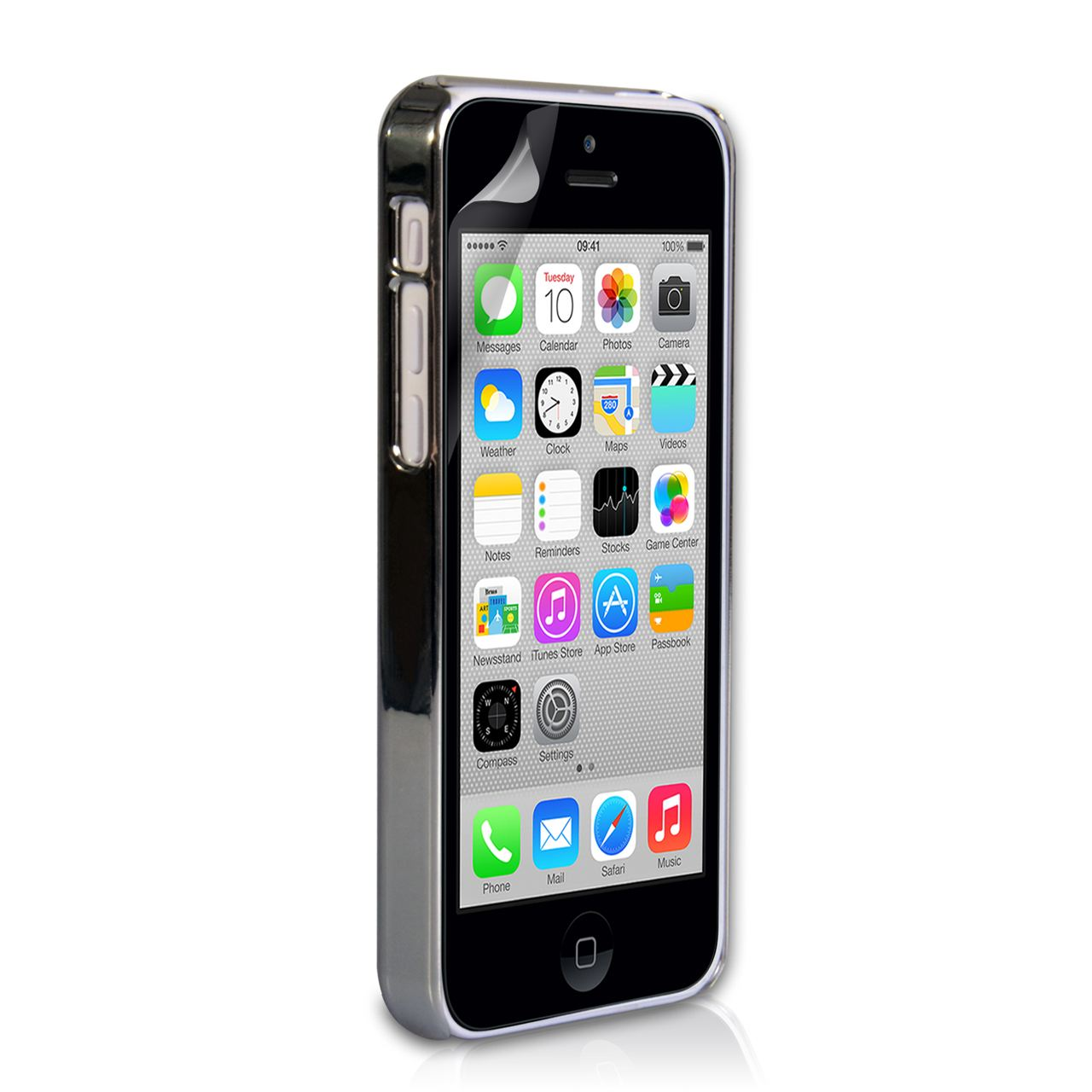 YouSave Accessories iPhone 5C Hard Case - Chrome and Brushed Metal
