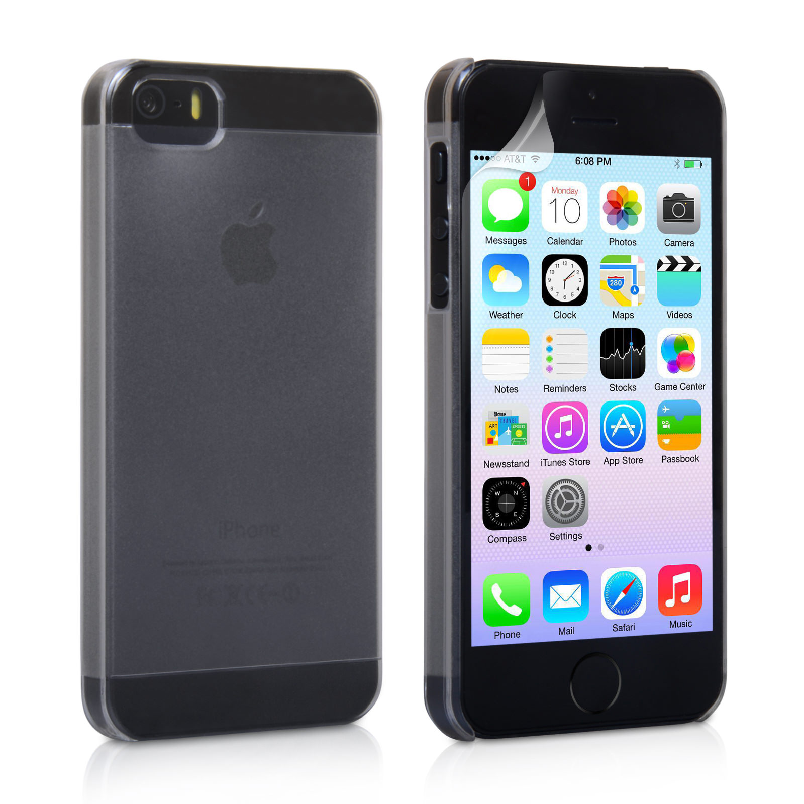 YouSave Accessories iPhone 5 / 5S Hard Case - Clear-Matte