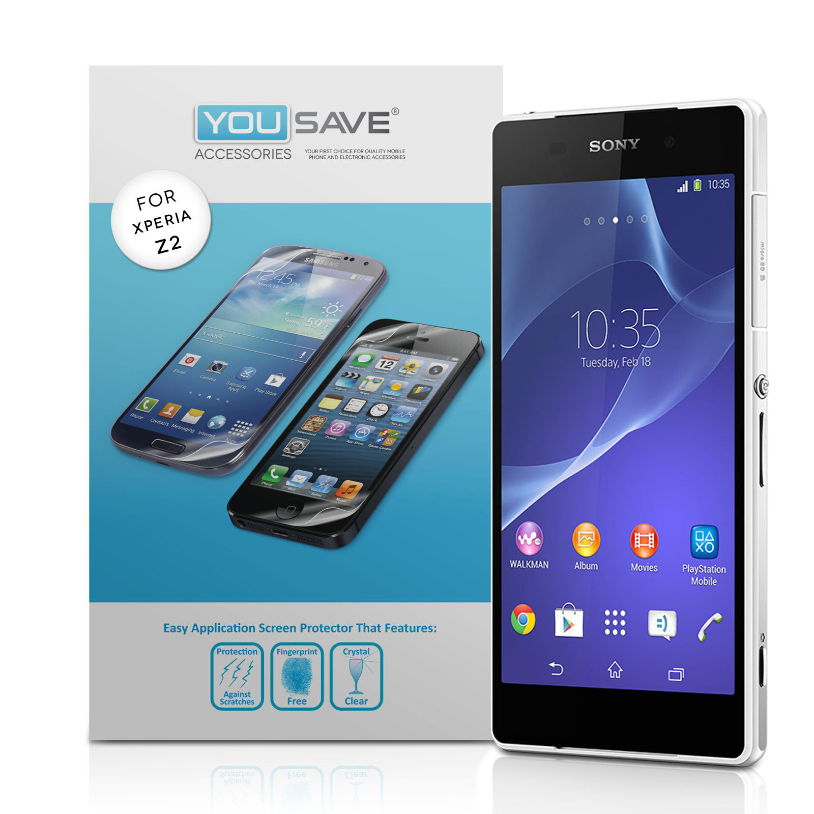 YouSave Accessories Sony Xperia Z2 Screen Protectors x3