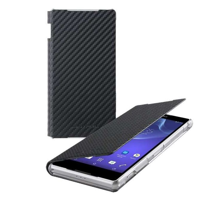 Roxfit Standing Book Case for Sony Xperia Z2 - Carbon Black