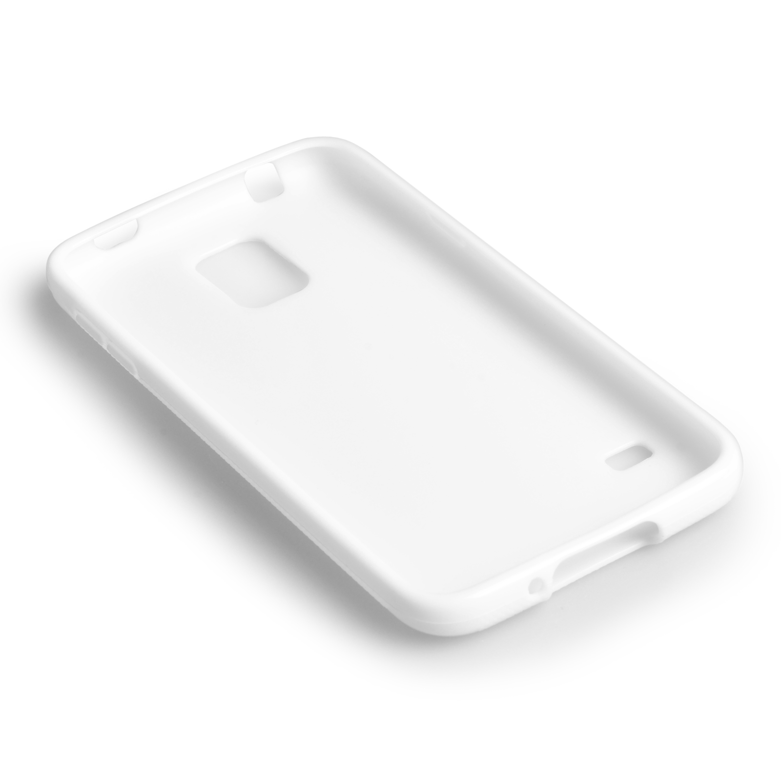 YouSave Accessories Samsung Galaxy S5 Silicone Gel X-Line Case - White