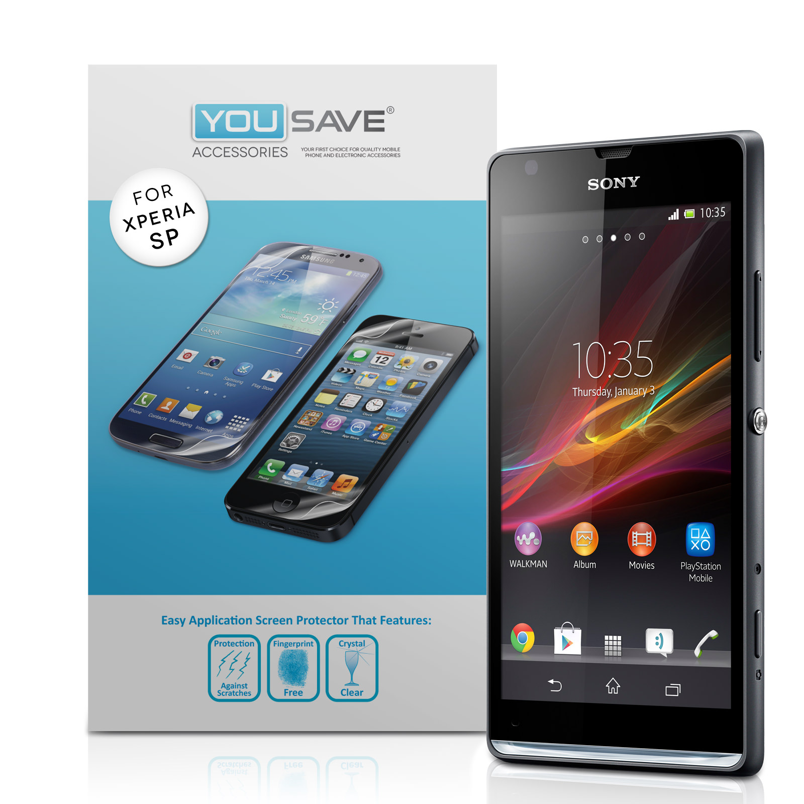 YouSave Accessories Sony Xperia SP Screen Protectors x3