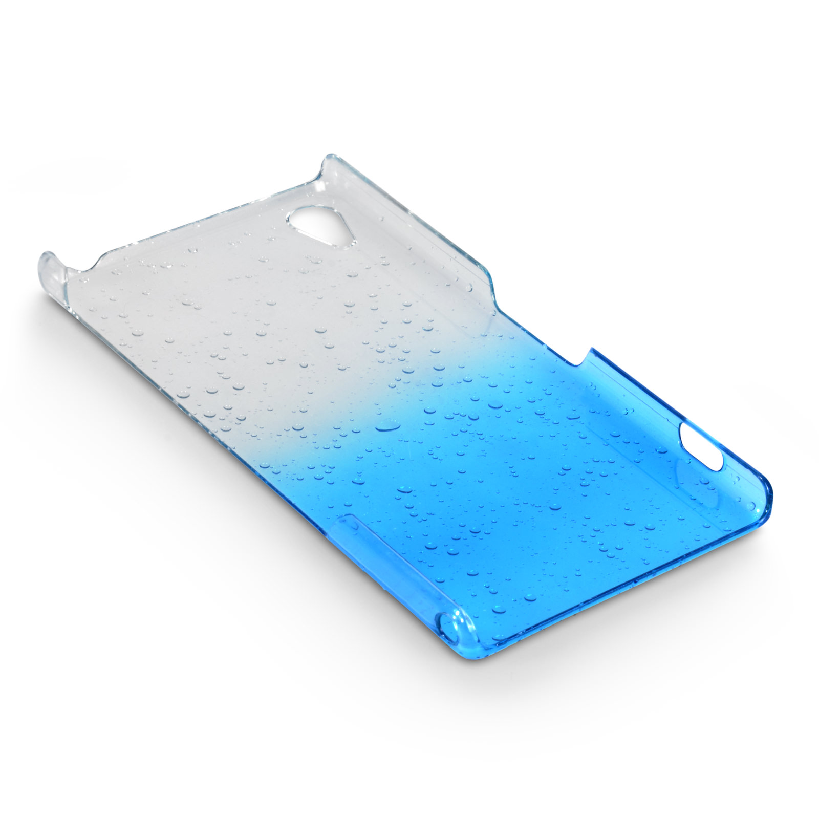 YouSave Accessories Sony Xperia Z2 Raindrop Hard Case - Blue-Clear