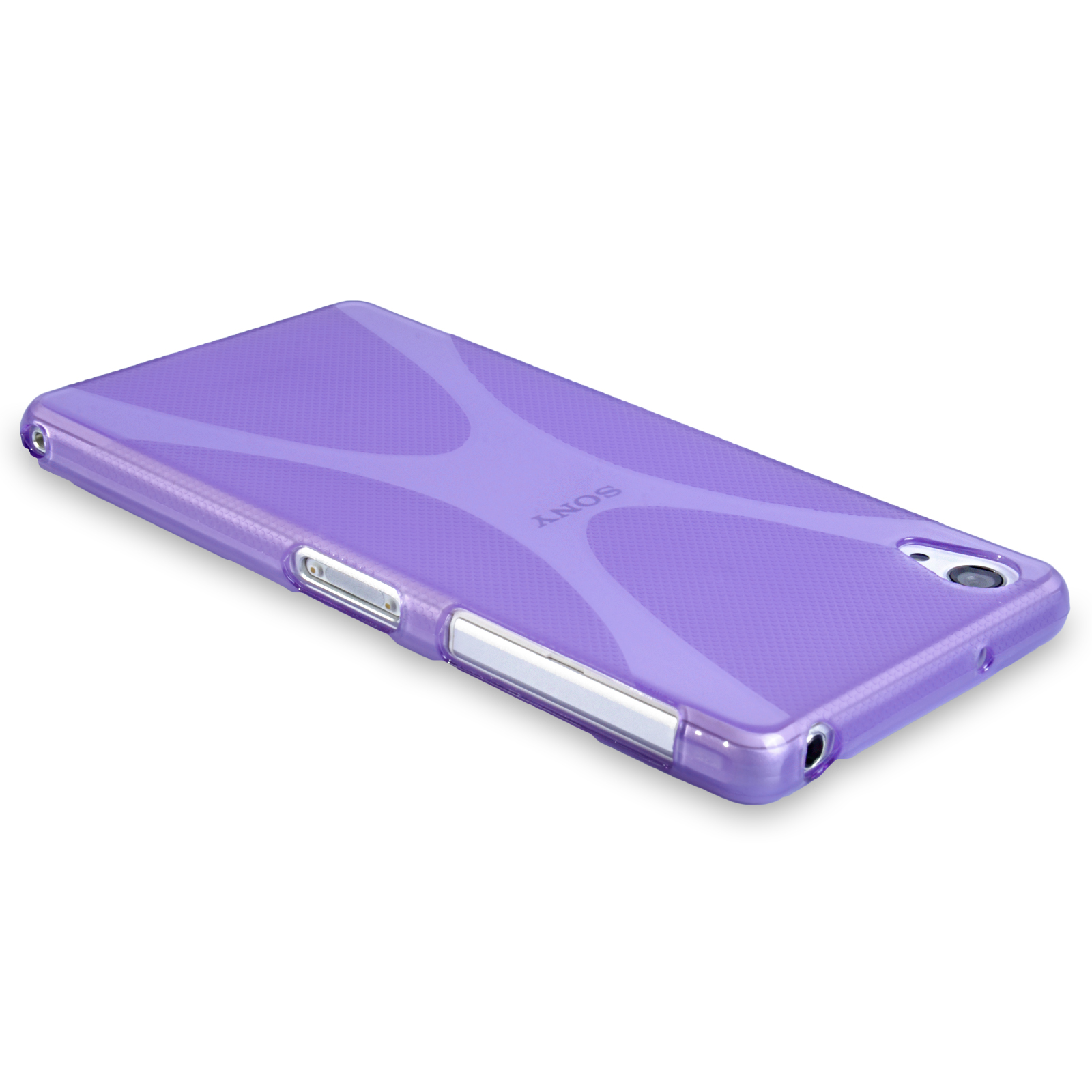 YouSave Accessories Sony Xperia Z2 Silicone Gel X-Line Case - Purple