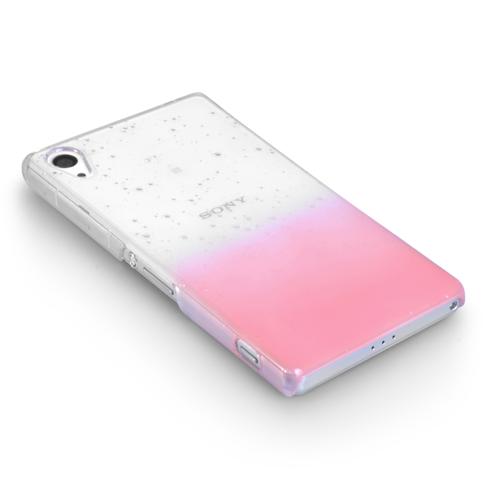 YouSave Sony Xperia Z2 Raindrop Hard Case - Baby Pink-Clear