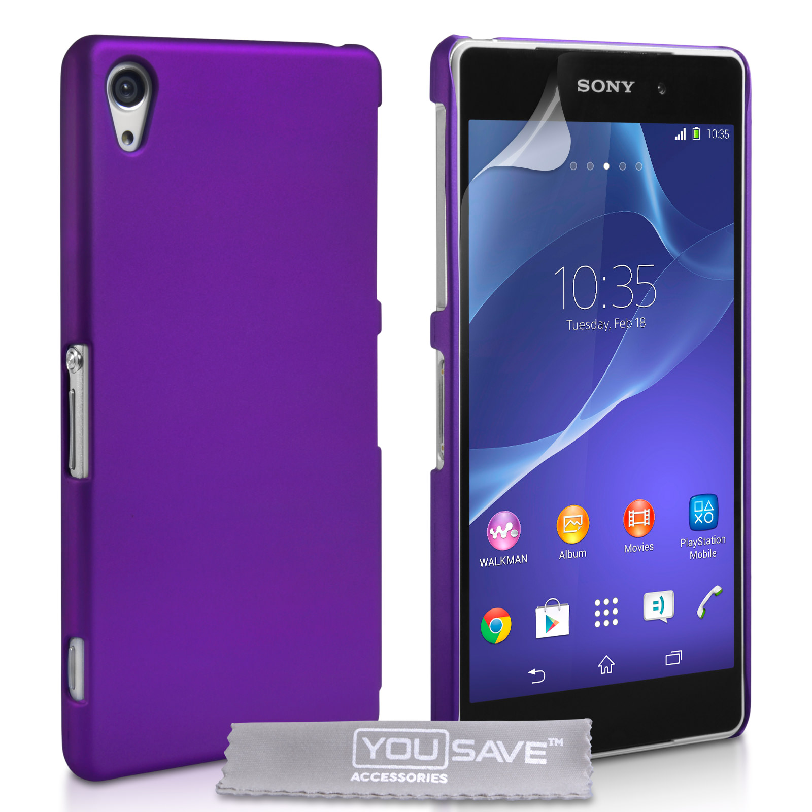 YouSave Accessories Sony Xperia Z2 Hard Hybrid Case - Purple
