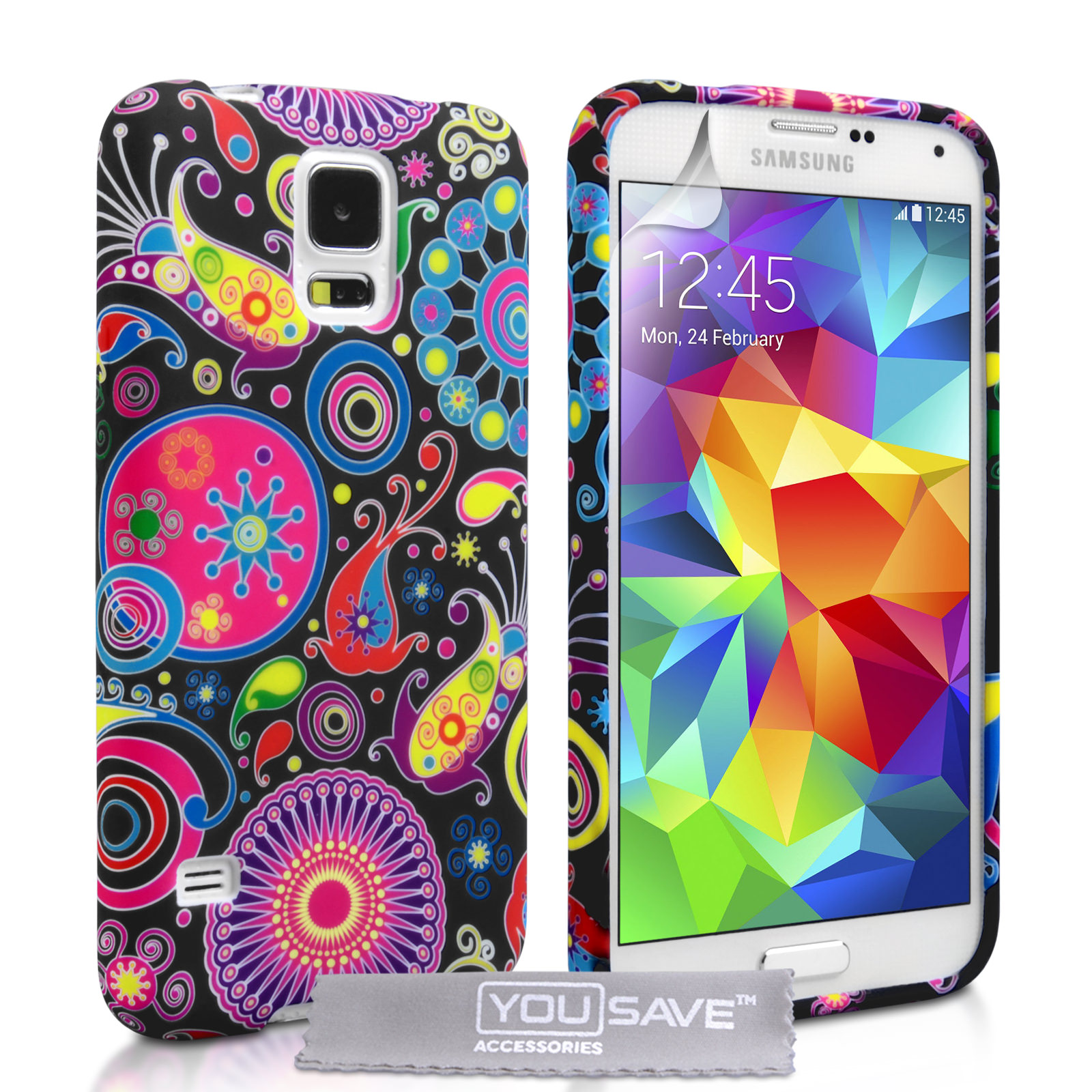 YouSave Accessories Samsung Galaxy S5 Jellyfish Silicone Gel Case