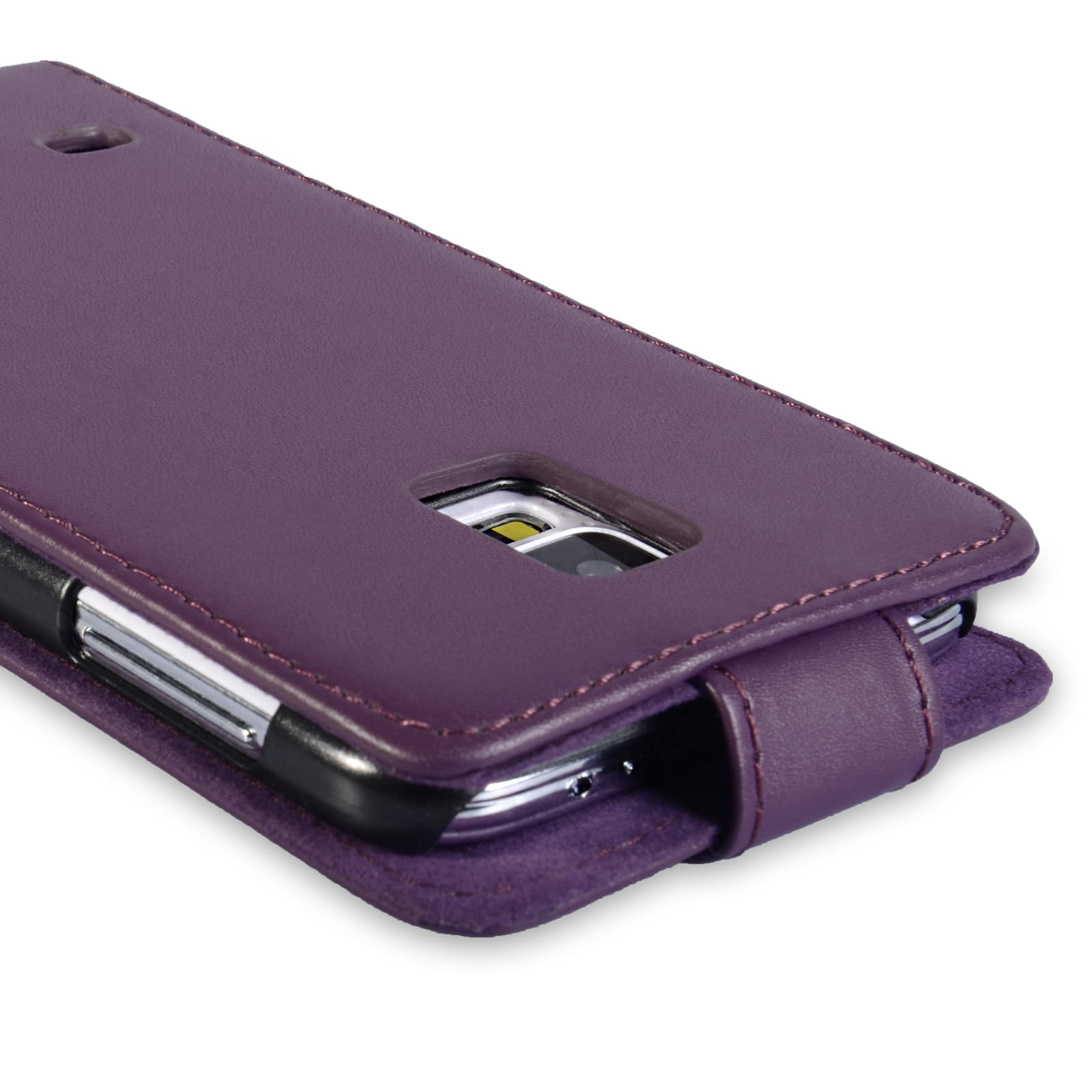 YouSave Samsung Galaxy S5 Leather-Effect Flip Case - Purple