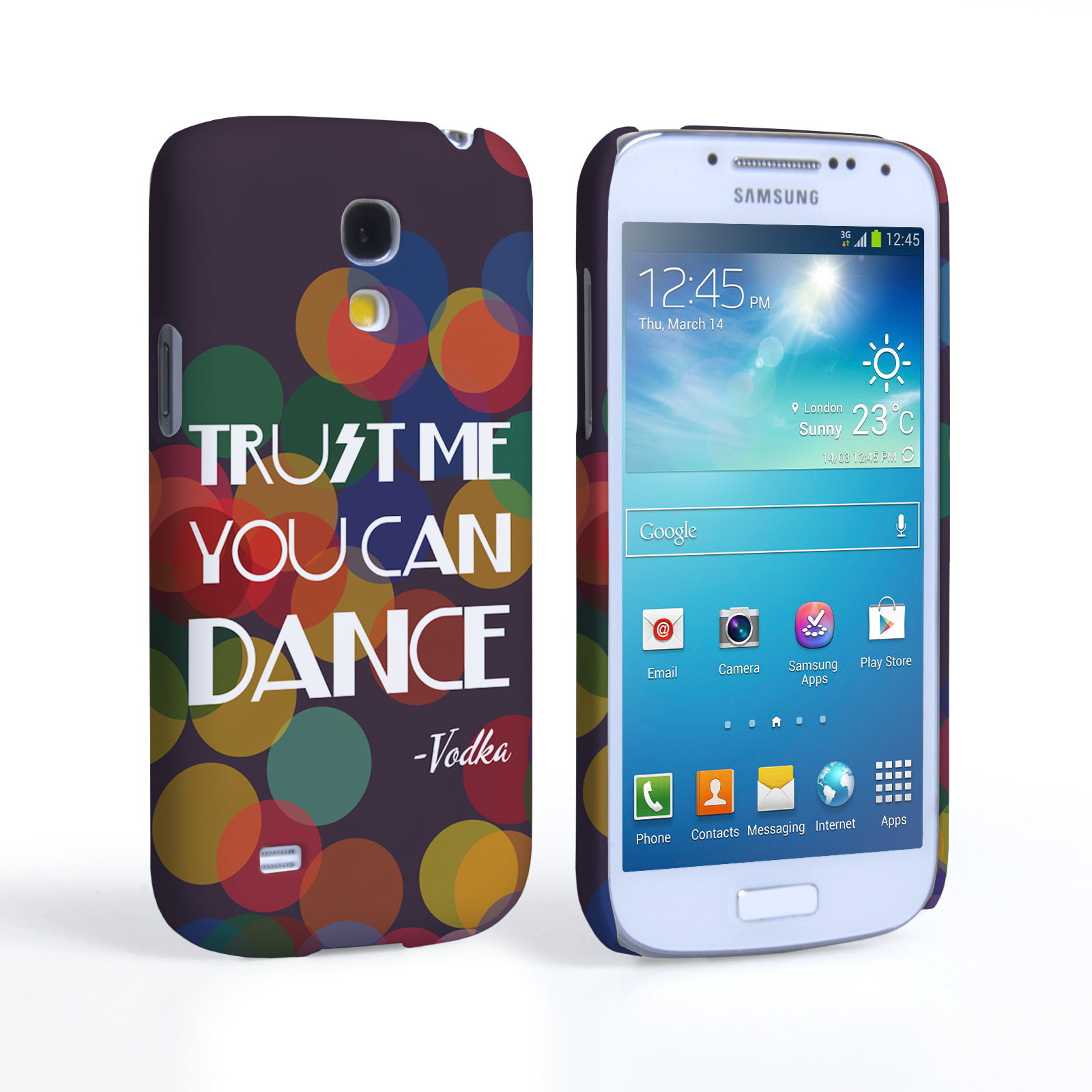 Caseflex Samsung Galaxy S4 Mini Vodka Dance Quote Hard Case – Purple