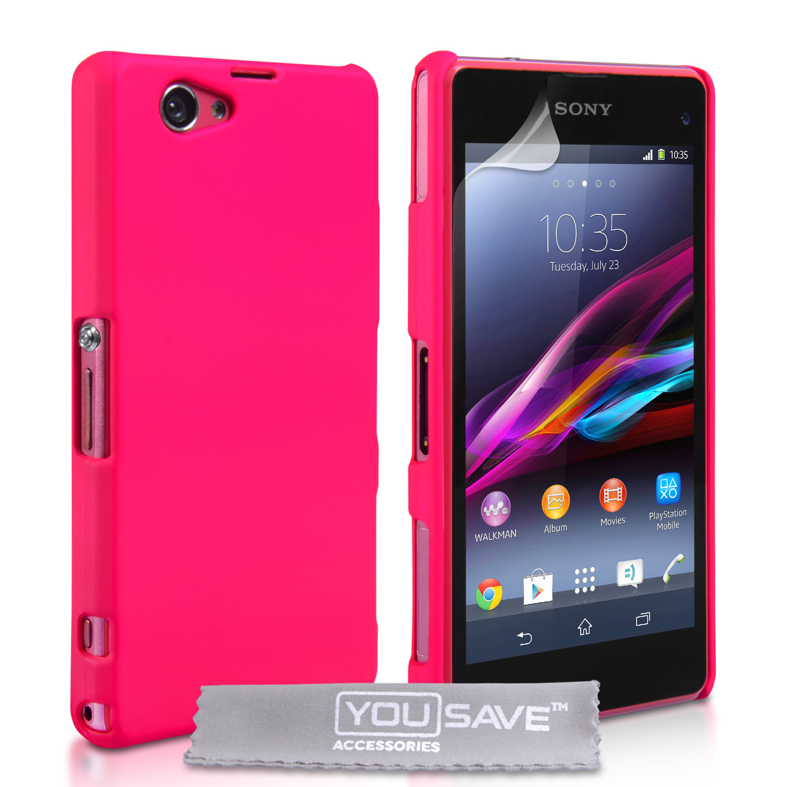 YouSave Accessories Sony Xperia Z1 Compact Hard Hybrid ...