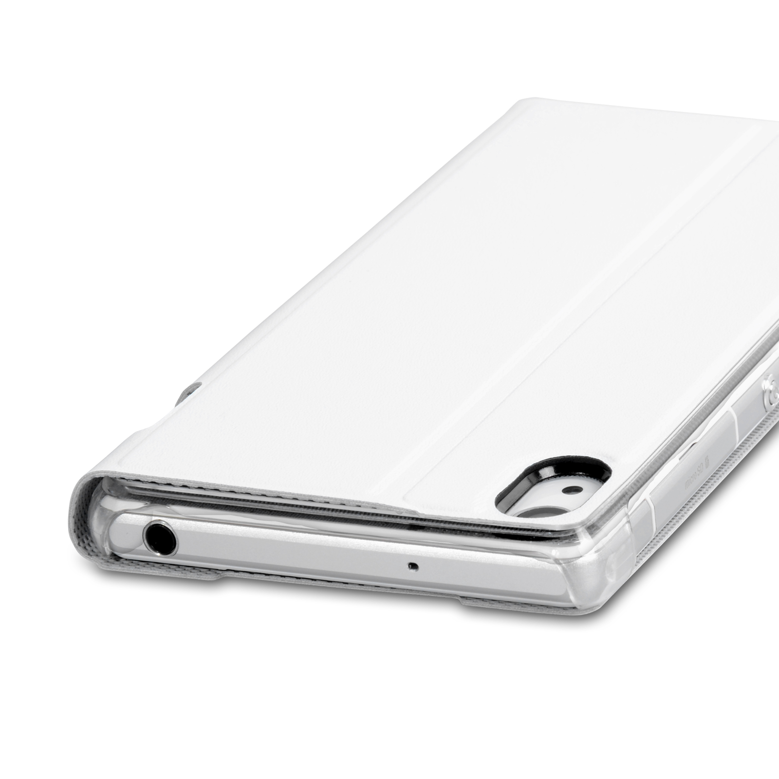 Roxfit Standing Book Case for Sony Xperia Z2 - Polar White