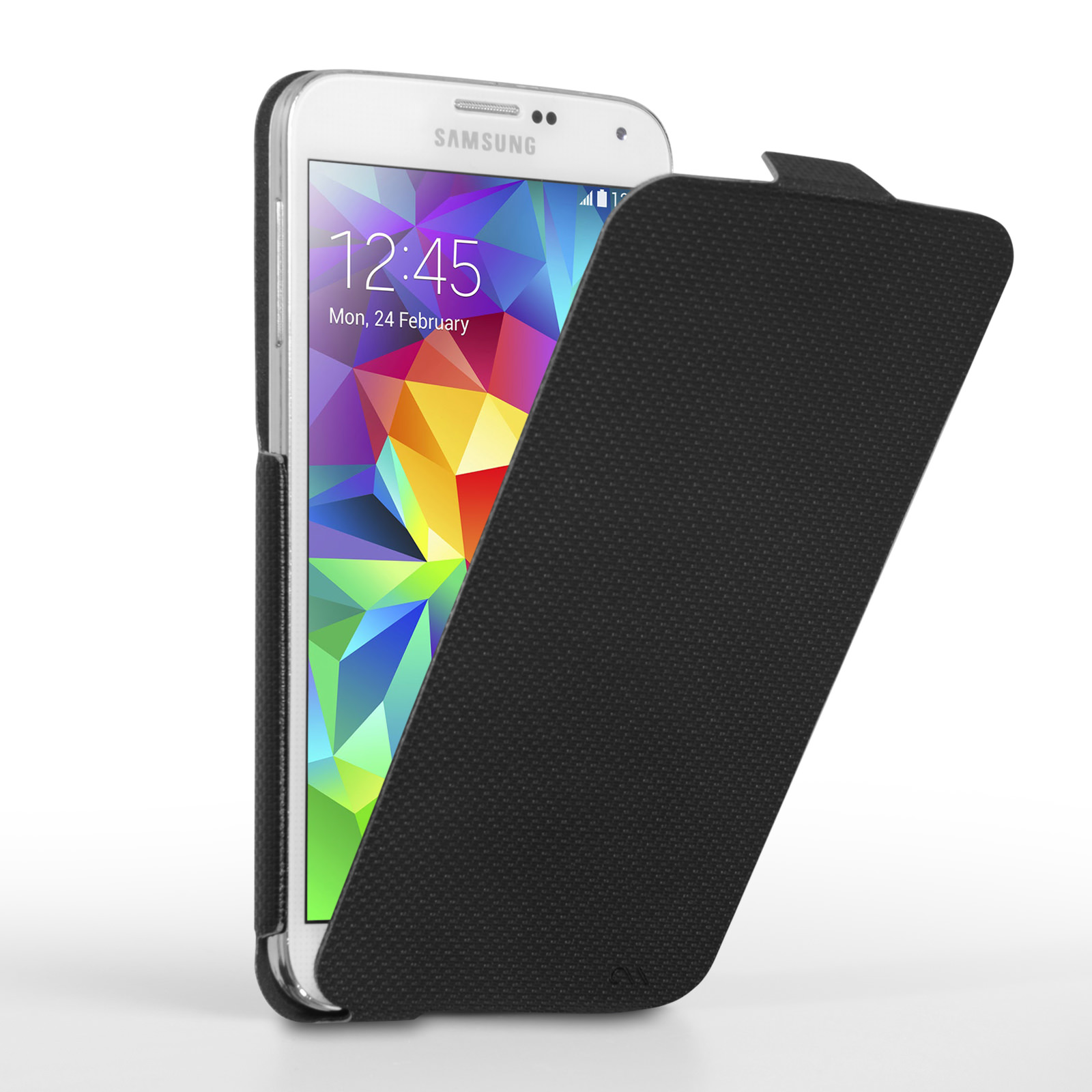 Case Mate Samsung Galaxy S5 Slim Flip Case - Black