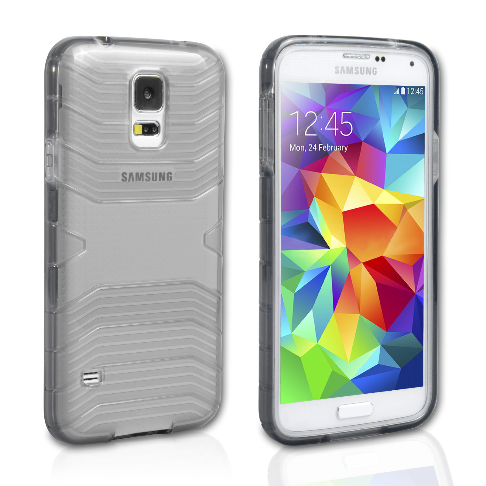 Official Samsung Galaxy S5 Protective Cover Plus Dark - Gray